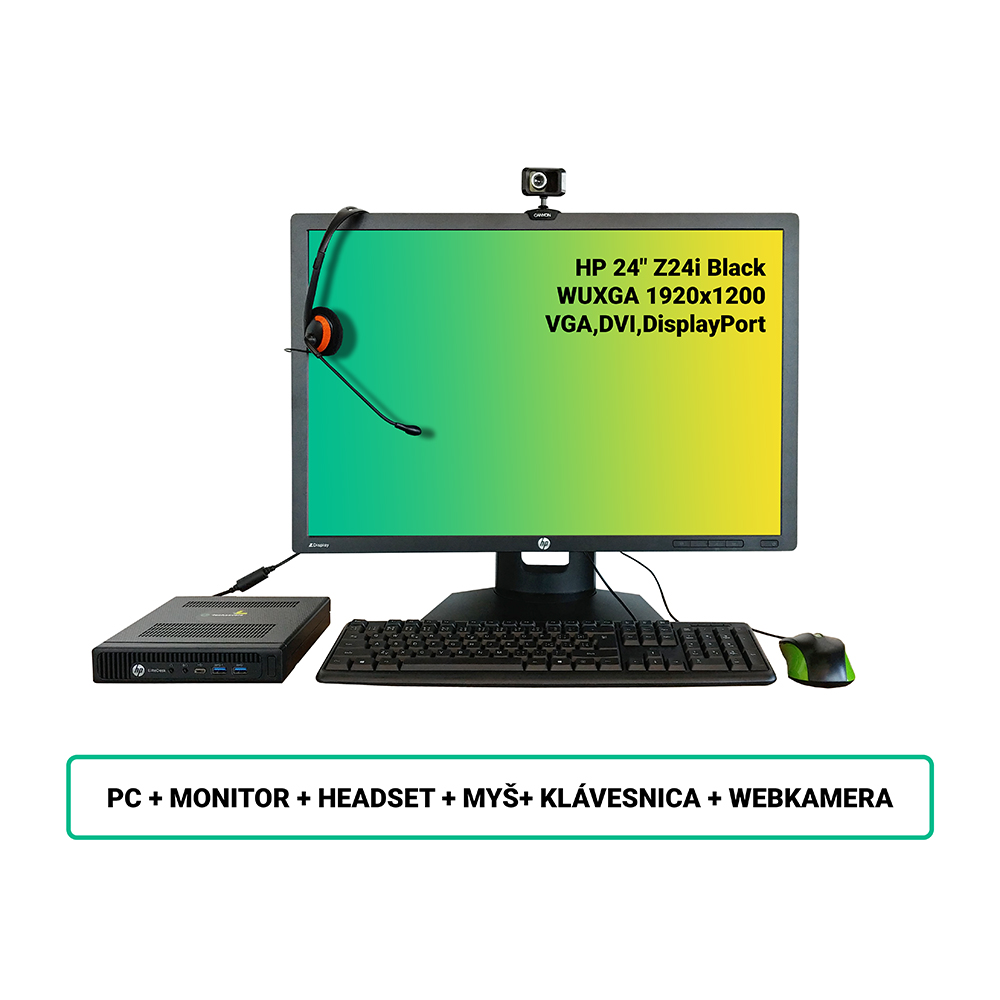 SET HP EliteDesk 800 G2 DM; Core i5 6500 3.2GHz/8GB RAM/256GB SSD/WiFi/BT/Intel HD/W10PRO/