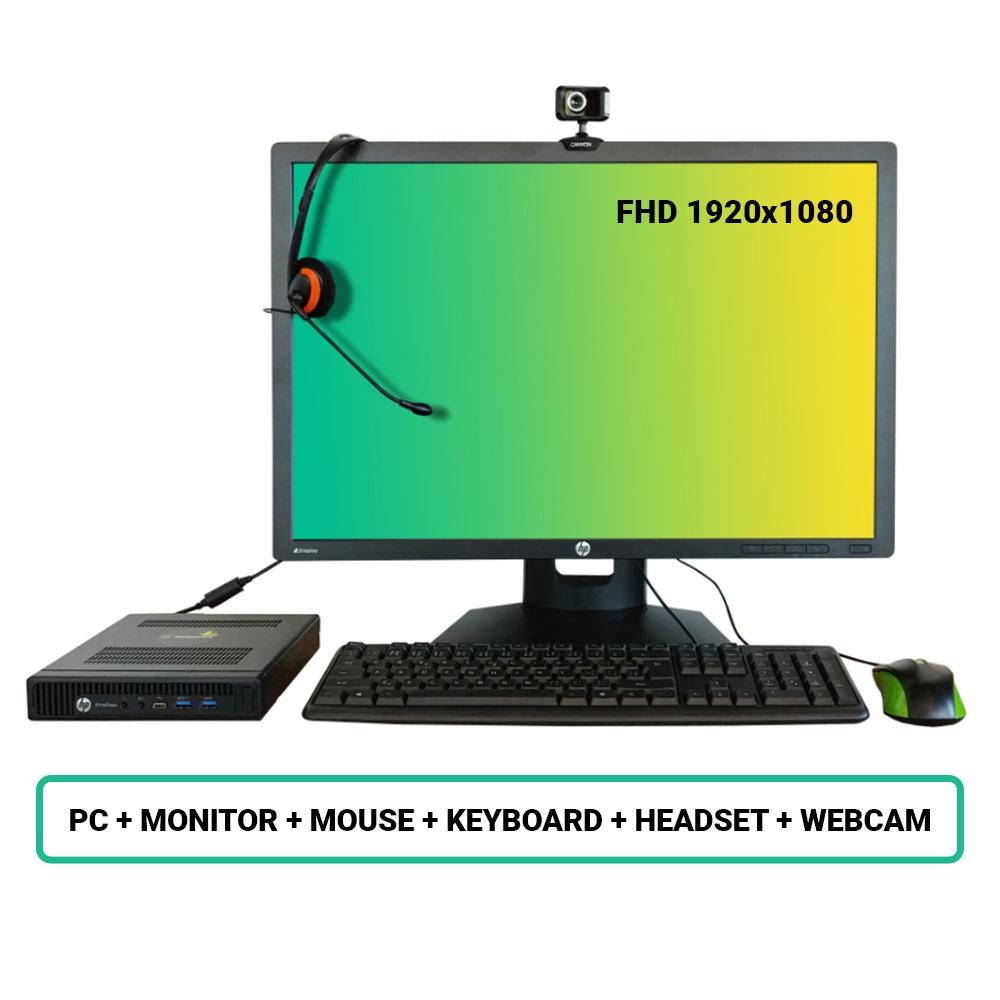 SET HP EliteDesk 800 G2 DM; Core i5 6500 3.2GHz/8GB RAM/256GB SSD/WiFi/BT/Intel HD/W10PRO