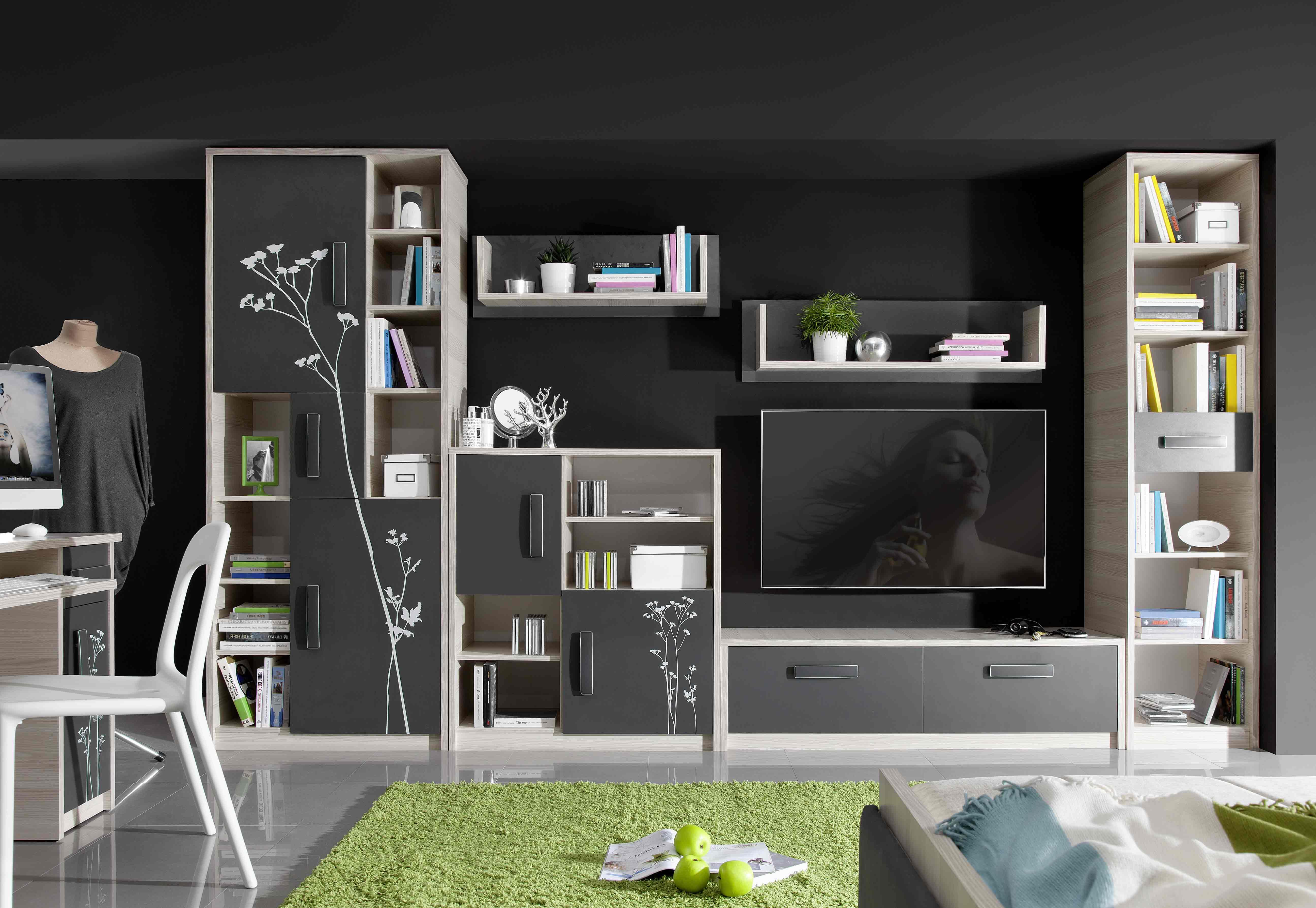 9570a21f6f28b BREGI detská izba, jaseň/grafit, AKCIA detská izba + otočná stolička Q-122  za 1€
