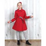 55e00b069401 dievčenský jarný kabát s kapucňou MARYSIA červená