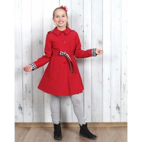 8296b613cdf1 dievčenský jarný kabát s kapucňou MARYSIA béžový. skladom