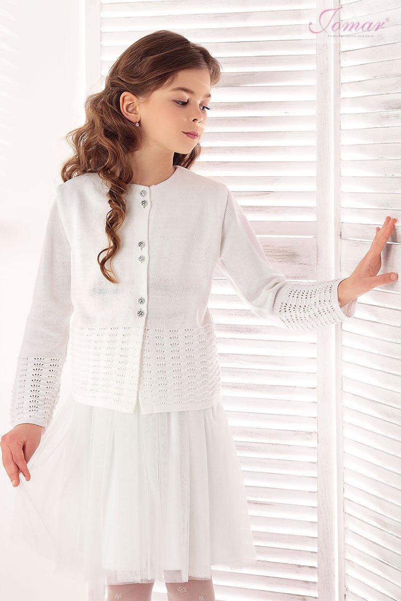 090724dd0599 dievčenský biely pletený sveter