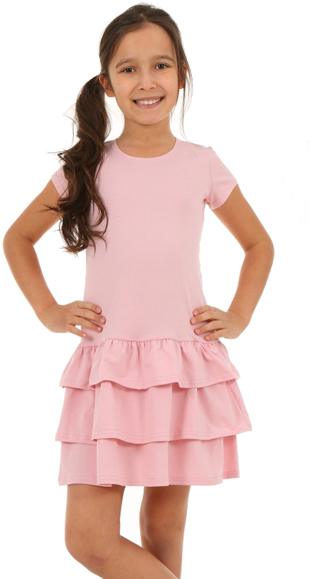 80b39cfa2371 letné bavlnené šaty s volánmi ružové