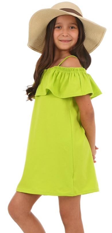 3d62cc12609c dievčenské letné šaty s volánom limetkové