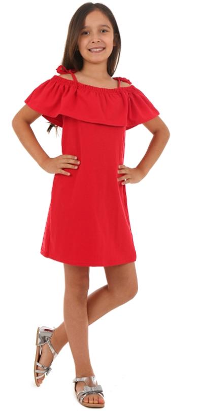 70ca7b7794dc dievčenské letné šaty s volánom červené