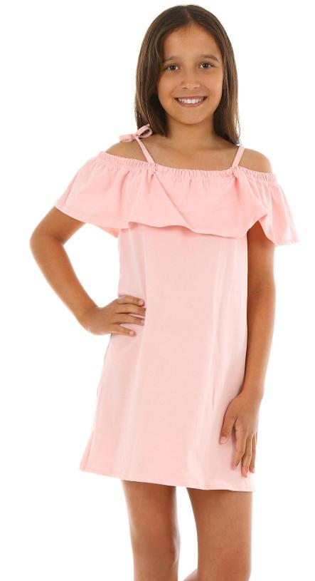 9fe4a53b17af dievčenské letné šaty s volánom ružové