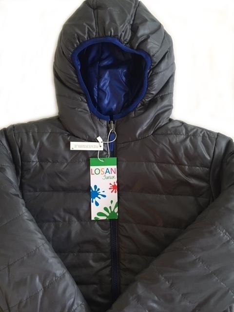 chlapčenská obojstranná bunda LOSAN sivo-modrá. skladom 954561354a4