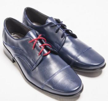 e127b125f8ab chlapčenské elegantné topánky modré hladké. skladom