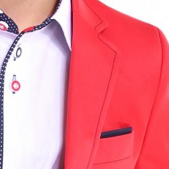 2c090df97766 chlapčenské športové sako FABIAN v červenej farbe. skladom