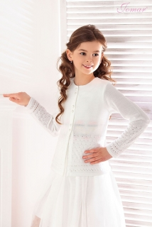 671af92b68ed dievčenský pletený sveter s perlovými gombíčkami empty