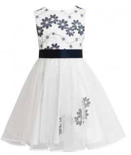 dievčenské slávnostné šaty MIA s výšivkou ... 0b45ec39d31