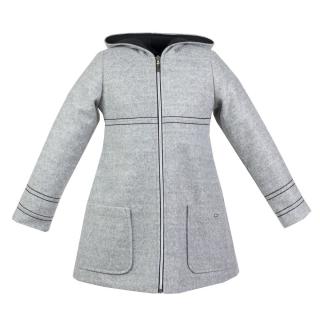 89cf87e6b987 dievčenský zimný kabát PEGGY sivý ...