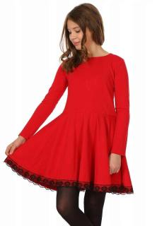 dievčenské šaty s krajkou empty 6b6f2316838