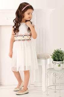 a0405d42e600 dievčenské romantické šaty smotanové empty