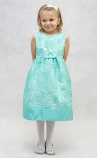 ad4dbc5b3a26 dievčenské sviatočné šaty ALEXA zelené MINI empty
