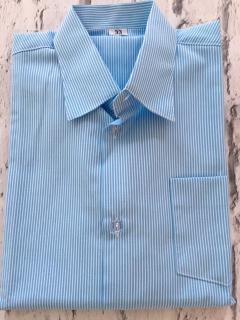 chlapčenská elegantná košeľa s prúžkami v bielo-modrej farbe empty c884d431a37