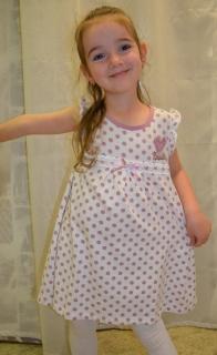 15a5236c9f04 dievčenské šaty BREEZE GIRLS v bielej farbe s fialovými bodkami empty