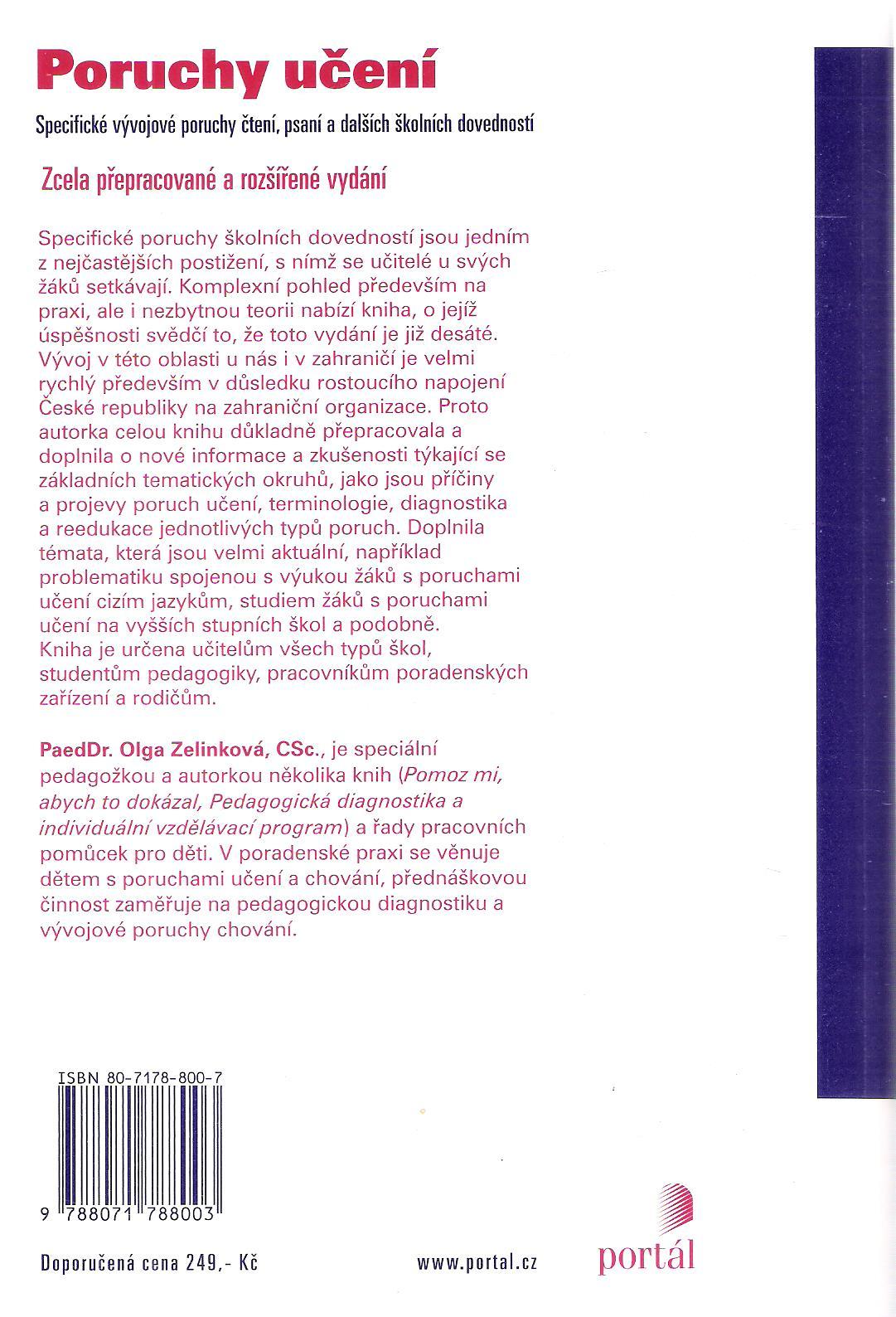 olga zelinková pedagogická diagnostika individuální vzdělávací program