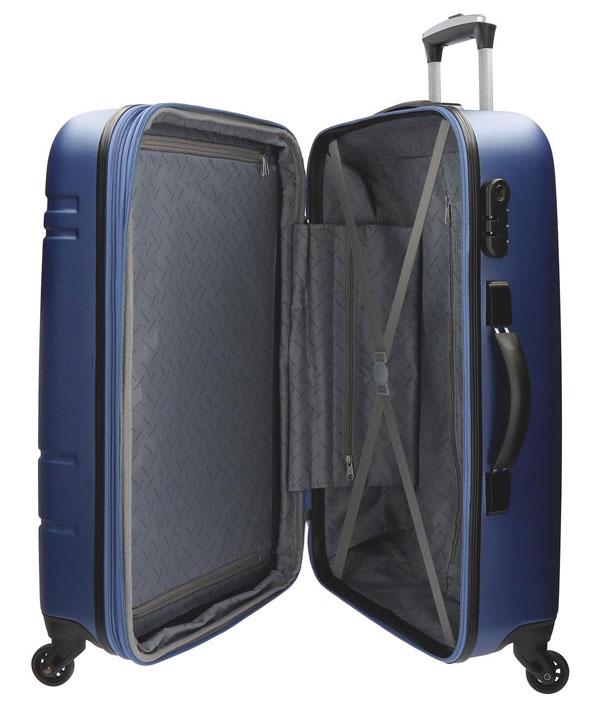 928e9c3133caf kufor Movom matrix modrý 110 l pohľad do vnútra kufru ...