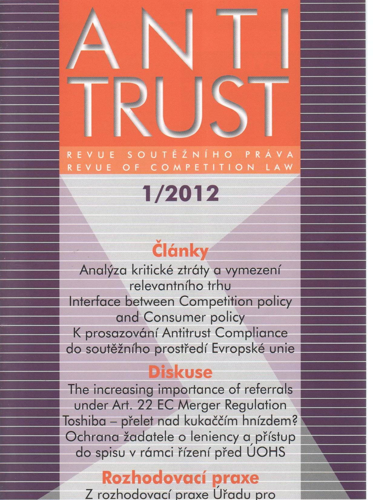 Antitrust č.1/2012