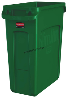 Kôš SLIM JIM 60l Rubbermaid zelený