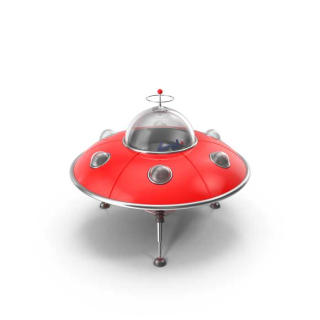 UFO children toy red Luxury Plastic
