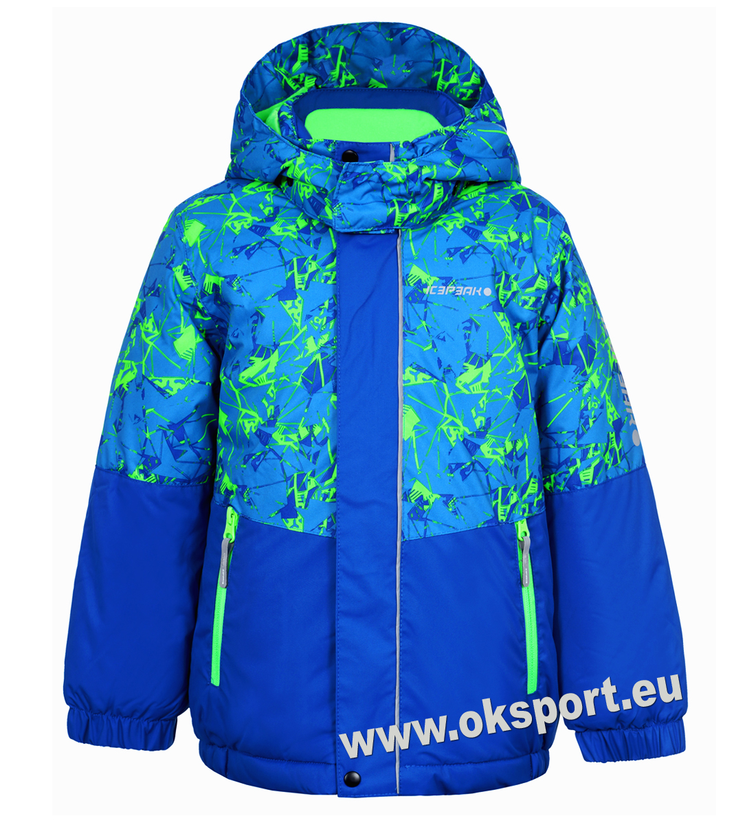 a4f7fbd2baf0 Chlapčenská zimná bunda Icepeak Jasper KD modrá zelená 50107-330