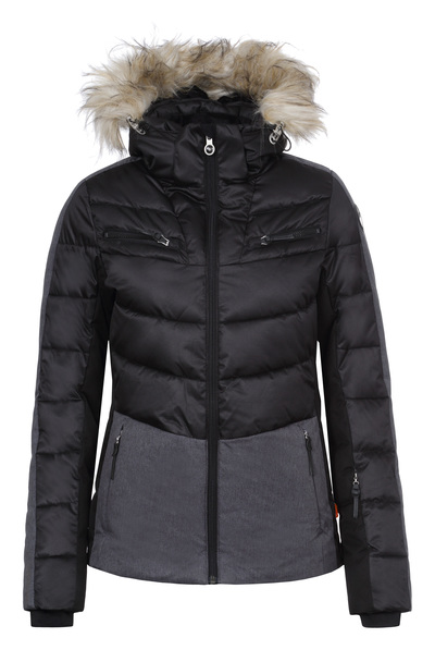 Dámska zimná bunda Icepeak Cathy IA s pravou kožušinou 53205 512 čierna 524030e45ee