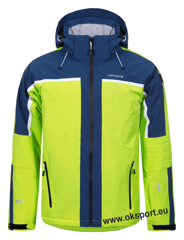 Icepeak Nevio pánska lyžiarska bunda limetkovo žltá 56117535-510 055a345208a