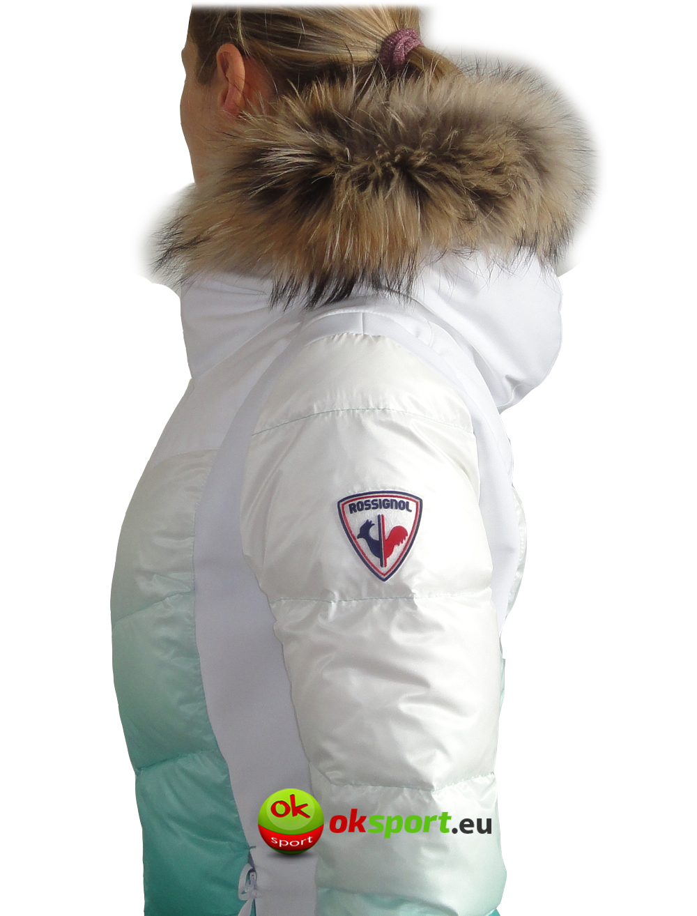 Dámska lyžiarska bunda Rossignol W Altipole s pravou kožušinou biela 2 6569719cc79