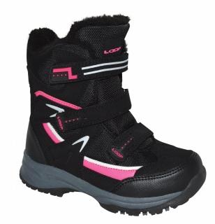 adc7a0e2d0 Detská zimná obuv Loap Nori čierna ružová empty