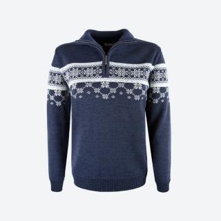 869a1f752f4e Dámsky sveter s nórskym vzorom Kama 5007 tm. modrý empty