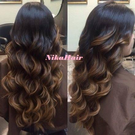 Наращивание волос омбре фото