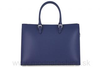 Kožená kabelka na rameno modrá empty c9bf34228b2