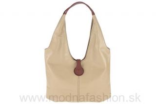 Talianska dámska kožená kabelka 689 šedohnedá empty d2ef15a5cdb