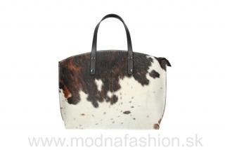Talianska kožená kabelka hnedá + béžová MADE IN ITALY empty 7ccc243a3e2