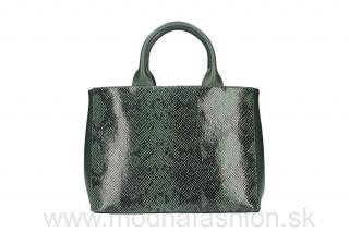 Talianska kožená kabelka tmavozelená MADE IN ITALY empty 2d117b9483e