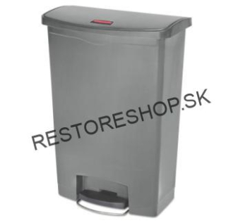 Step ON SLIM 90L nášlapný s koliečkami Rubbermaid šedý