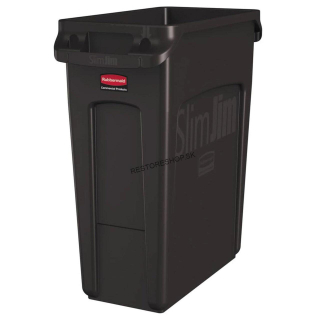 Kôš SLIM JIM 60l Rubbermaid hnedý